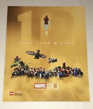 "Lego Avengers 16x20 SDCC 2018 Poster ""More Than A Hero"" 10 Years Of Marvel"