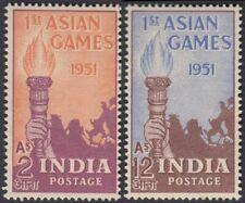 INDIA 1951 ASIAN GAMES 2V MNH SET SG 335-6 £20