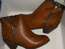 Diba  M Bellish Cognac Brown Ankle Boots Wo's SZ 10 (EUR 40)