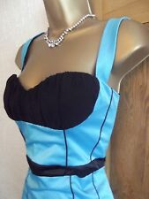 JANE NORMAN ❤️ BNWT BLUE BLACK SEXY CORSET PENCIL WIGGLE PARTY DRESS SIZE 10 12