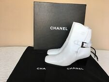 100% AUTHENTIC CHANEL White boots size 36