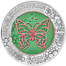 Austria 2017 25€ Microcosmos Butterfly Bimetallic Niobium Silver Coin
