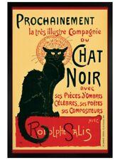 Poster Theophile Steinlen Black Wooden Framed Tournee du Chat Noir 61x91.5cm