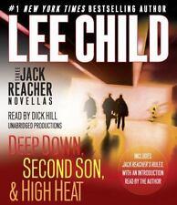 Lee Child 3 Jack Reacher: DEEP DOWN, SECOND SON, HIGH HEAT Unabridged CD  *NEW*