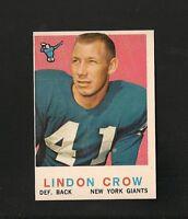 2813* 1959 Topps # 156 Lindon Crow NM-MT