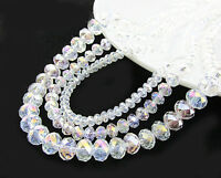 Transparent Natural White Crystal Gemstone Spacer Loose Glitter Beads 4/6/8/10mm