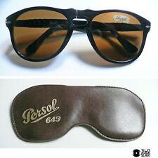 Persol Ratti 649/4A nero occhiali da sole custodia vintage 1980s (medium)