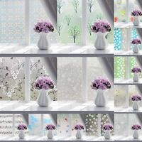 PVC Frosted Glass Door Window Privacy Film Stickers Bedroom Bathroom 45x100cm