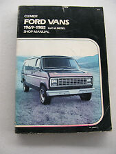 USED CLYMER AUTOMOTIVE MANUAL FOR FORD VANS 69-85 (#A249)