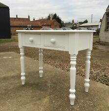 Handmade Victorain style dressing table with turned legs