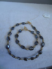 Hematite necklace and bracelet set. Stone known for its healing properties