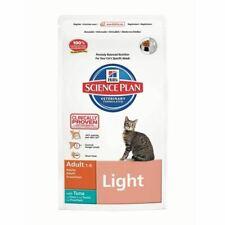 Hills Science Plan Cat Adult Dry Dog Food Tuna Light Low Calorie 1.5kg Bag