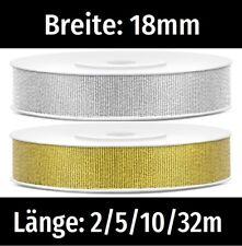 Dekoband 3mm schwarz//silber Lurexkante 100M// 0,10€pro M Schleifenband Geschenkba
