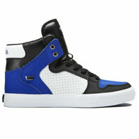 Supra Men's Vaider Hi Top Sneaker Shoes Royal/Black-White Footwear Skate Casu...