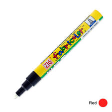 Zig Fabricolor Fabric Marker - 2mm - Red (Pack of 12)