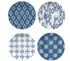 VINTAGE Set di 4 Blue Plate Set, melamina Cena Piatti, Stoviglie da Cucina 4pc