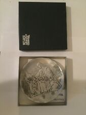Beautiful Wendell August 25th Anniversary Jesus & Children Forged Aluminum Plate