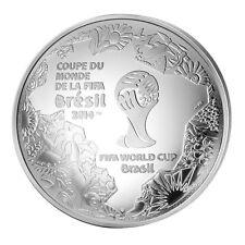 FRANCE COUPE MONDE FOOT 2014 FIFA  10€ ARGENT PIÈCE CONVEXE PROUESSE TECHNIQUE