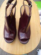 Ladies Burgundy Platform Shoes by Retro