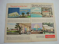 1964 World's Fair 2 Page Ad Owens-Corning Fiberlas The Proof Is At The Fair