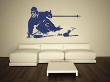 Wall Decal Vinyl Sticker Skiing Ski Sport Snowboard Mans Gift Extreme r493