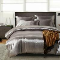 Twin Queen King Duvet Quilt Cover Bed Sheet Covers Bedding Set Silk Feeling Cool