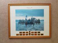SHERIDAN'S MEN by MORT KUNSTLER with Commemorative Stamps - Civil War Print