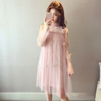 Women Fashion Chiffon Mori Girl Birthday Dress Dinner Wedding Party Midi Dres IO