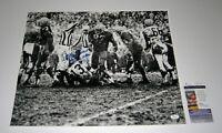 1965 PACKERS Willie Davis signed MUD 16x20 photo w/ HOF & 5 NFL Titles JSA AUTO