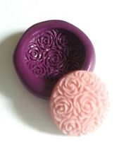Small ROSE DISC Cabochon Silicone Mould Sugarcraft Icing Fondant Marzipan Fimo