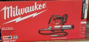 Milwaukee M18 2-speed Grease Gun Kit, 2646-21CT, brand new in box!