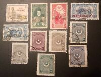 TURKEY, CLASSIC LOT OF 11 BETTER STAMPS, USED, FREE SHIPPING!!!