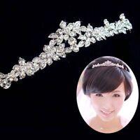 Prom Bridal Bridesmaid Crown Crystal Flower Tiara Headband Headpiece Wedding