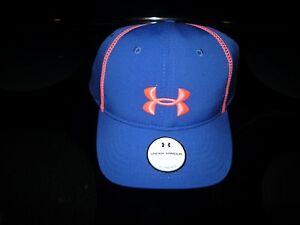 Brand New Misses Blue & Orange Under Armour Heat Gear Hat, Size OSFM