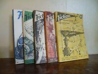 Ficción X 5 Revistas Sci-Fi Fantasía Ed. Opta / Dibujos Forest 1960-66
