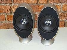 Pair Of KEF HTS KHT 3001 Silver Finish Surround Sound Home Cinema Loud Speakers