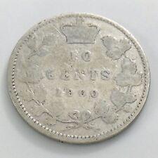 1900 Canada 10 Ten Cent Silver Canadian Dime Victoria Circulated Coin H981