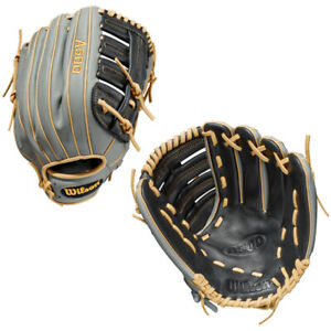 """Wilson A500 12.5"""" Outfield Baseball Glove 2022 Throws Right Model"""