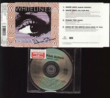 CD SINGLE NOT FOR SALE CAMPIONE GRATUITO DURAN WHITE LINES THANK YOU ZEPPELIN