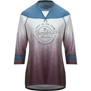 NWT Sombrio Noble Jersey Womens Medium M Cycling Pacific Teal Tie Dye Blue Gray