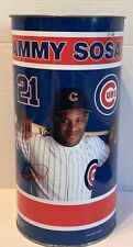 Chicago Cubs Sammy Sosa Vintage 1996 Collectible Waste Basket Tin