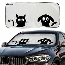 Jumbo Cartoon Dog Cat Car Sunshade Visor Folding Auto SUV Windshield Block Cover