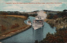 Postcard Ship Algonquin Going Into Canal Peninsular Mary Lakes Ontario Canada