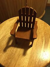 """Miniature Adirondack Chair. 3.5""""W X 3.5"""" L X 6""""H .  (Price Is For 2 Chairs)"""