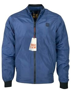 Hugo Boss Men's BOSS ORANGE Extra-slim-fit European Size Bomber Jacket - Blue