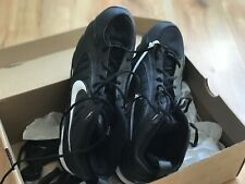 Nike Size 10 Black White Land Shark MID Mens Football Cleats Shoes