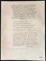 1926 - Litografia citazione Lords Sydenham Combe, Parmor WW1