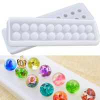 Silicone Bead Balls Pendant Mold DIY Necklace Bracelet Jewelry Making Craft TOP