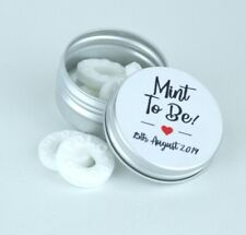 10 X Personalised Polo Mint Tins, Wedding Favours, Mint to Be