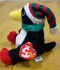 Ty Beanie Jingle Babies TOBOGGAN PENGUIN Stuffed Animal NEW
